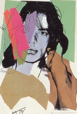 ANDY WARHOL MICK JAGGER WARHOL LIMITED EDITION SIGNED SCREENPRIN